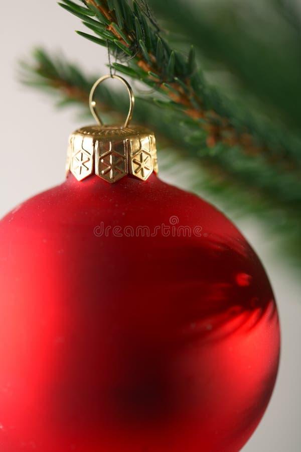 Weihnachtsbaum mit Dekorationen und Geschenken lizenzfreies stockfoto