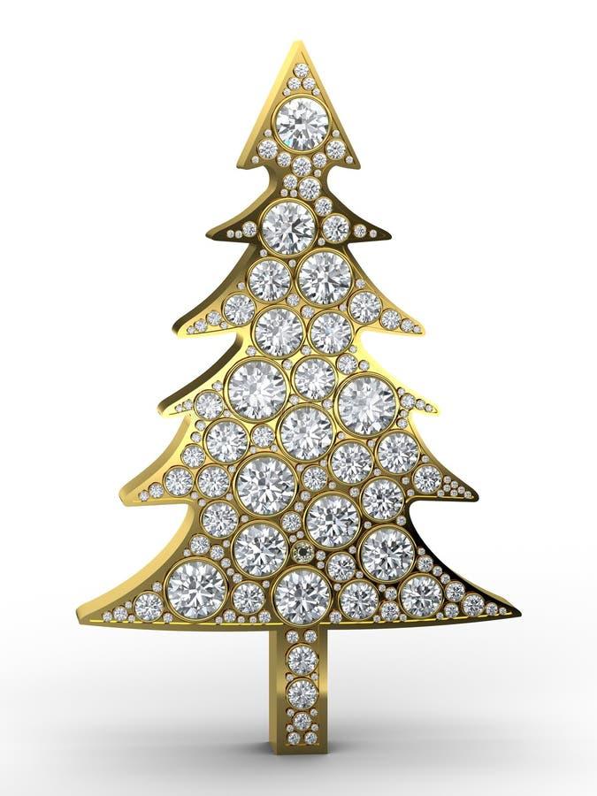 Weihnachtsbaum mit Diamanten vektor abbildung