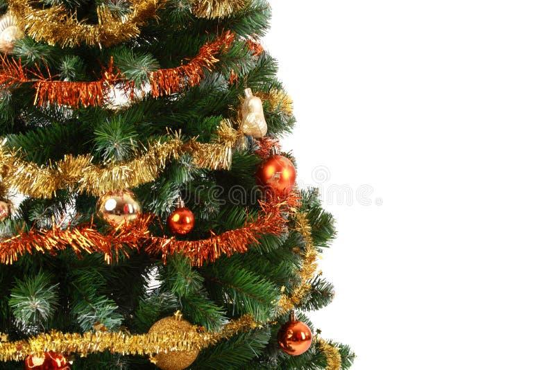Weihnachtsbaum mit Exemplarplatz stockfotos