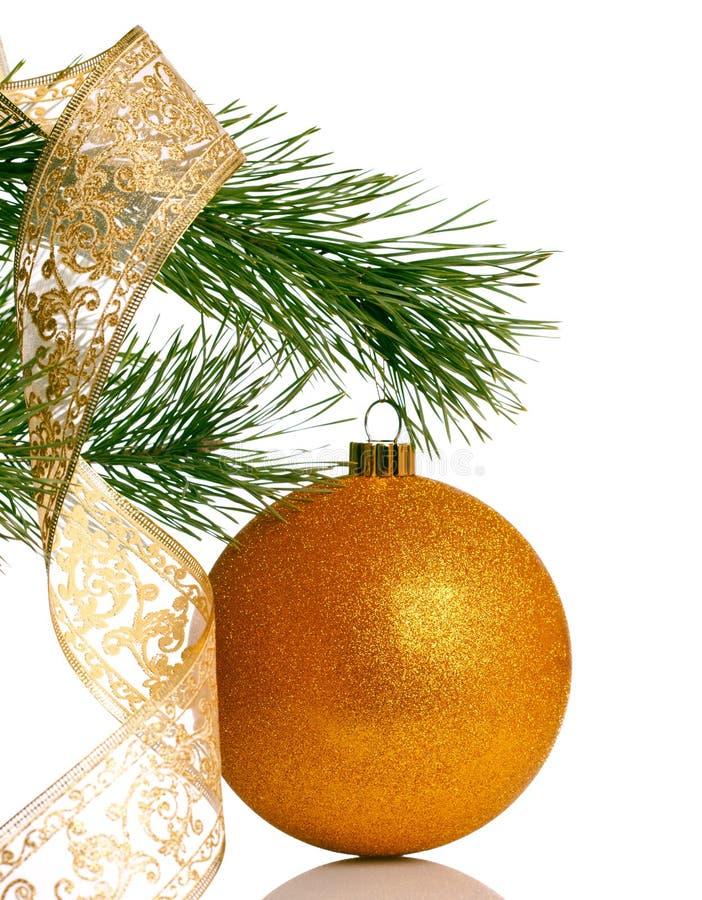Weihnachtsbaum mit Flitter lizenzfreies stockfoto
