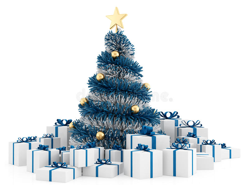 Weihnachtsbaum mit Geschenken vektor abbildung