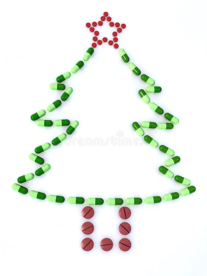 Weihnachtsbaum mit Pillen vektor abbildung