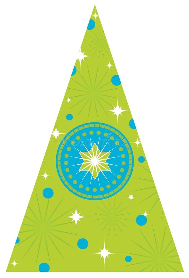 Weihnachtsbaum mit Sternen lizenzfreie abbildung