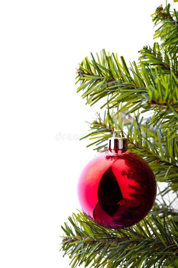 Weihnachtsbaum mit Verzierungen stockfoto
