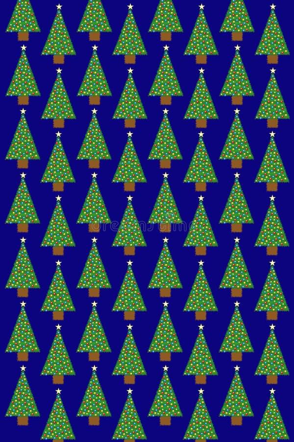 Download Weihnachtsbaum-Muster stock abbildung. Illustration von verpacken - 27731967