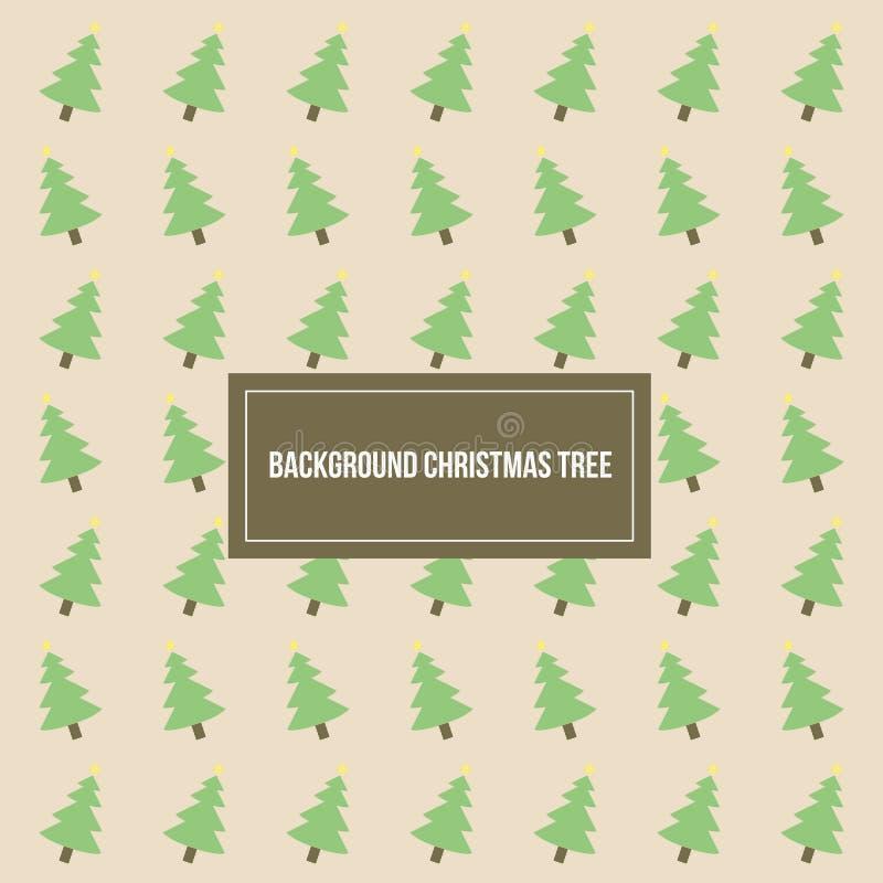 Weihnachtsbaum-Muster-Vektor-Hintergrund-Schablone lizenzfreies stockbild
