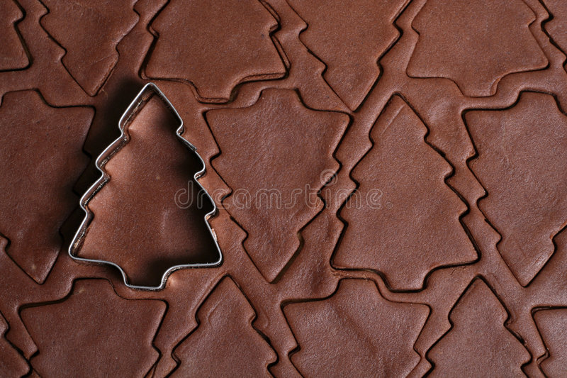Weihnachtsbaum-Plätzchenscherblock lizenzfreie stockfotos