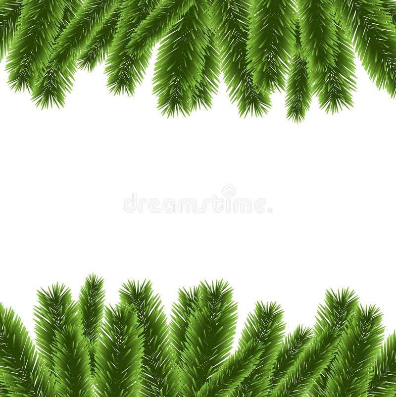 Weihnachtsbaum-Rahmendekorationsvektor vektor abbildung