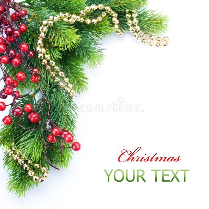 Weihnachtsbaum-Rand stockbilder
