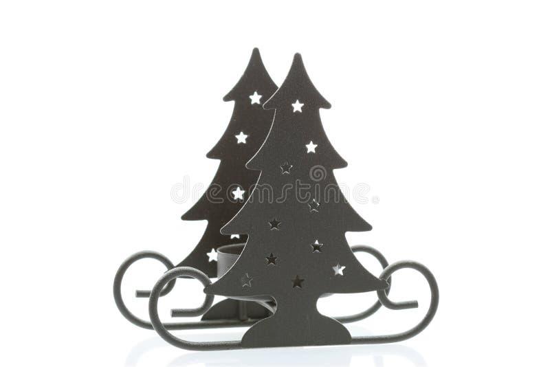 weihnachtsbaum schlitten stockbild bild von kerze stern. Black Bedroom Furniture Sets. Home Design Ideas