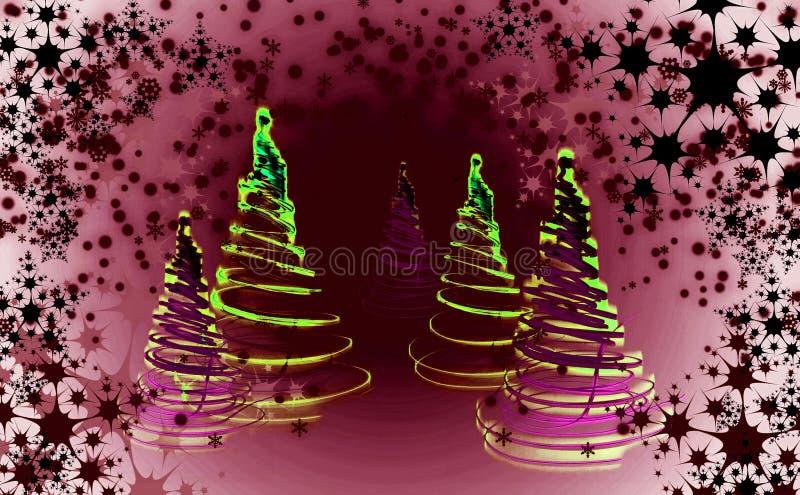Weihnachtsbaum u. x28; forest& x29; vektor abbildung