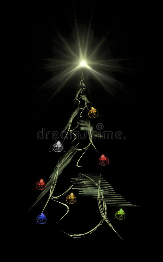 Weihnachtsbaum u. Stern vektor abbildung