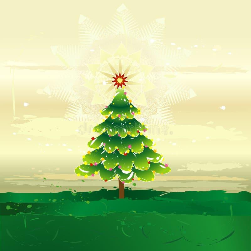 Weihnachtsbaum, Vektor lizenzfreie abbildung