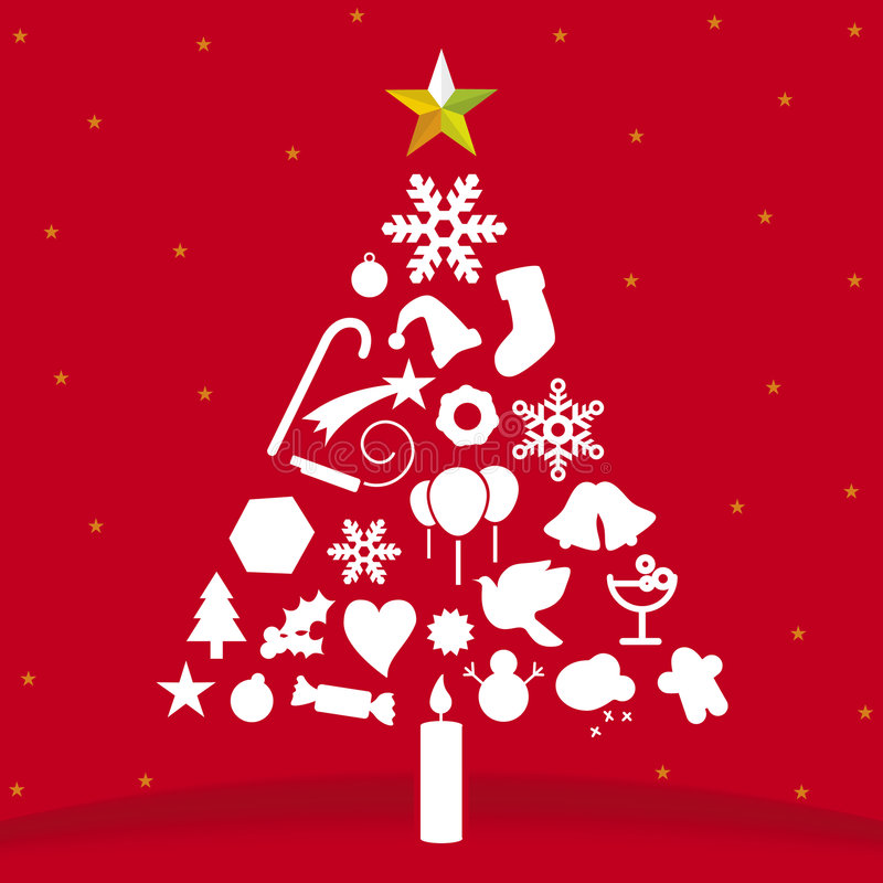 Weihnachtsbaum (Vektor) stock abbildung