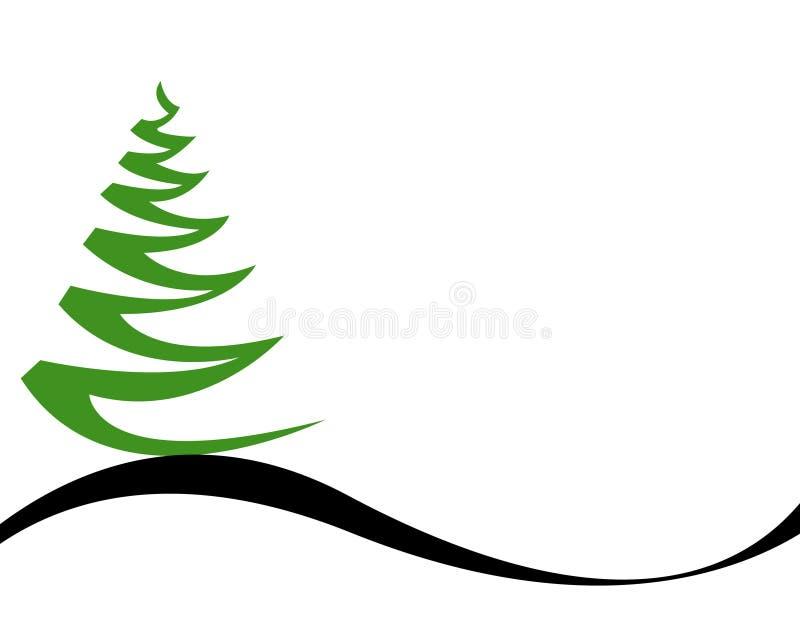 Weihnachtsbaum-Vektor stock abbildung