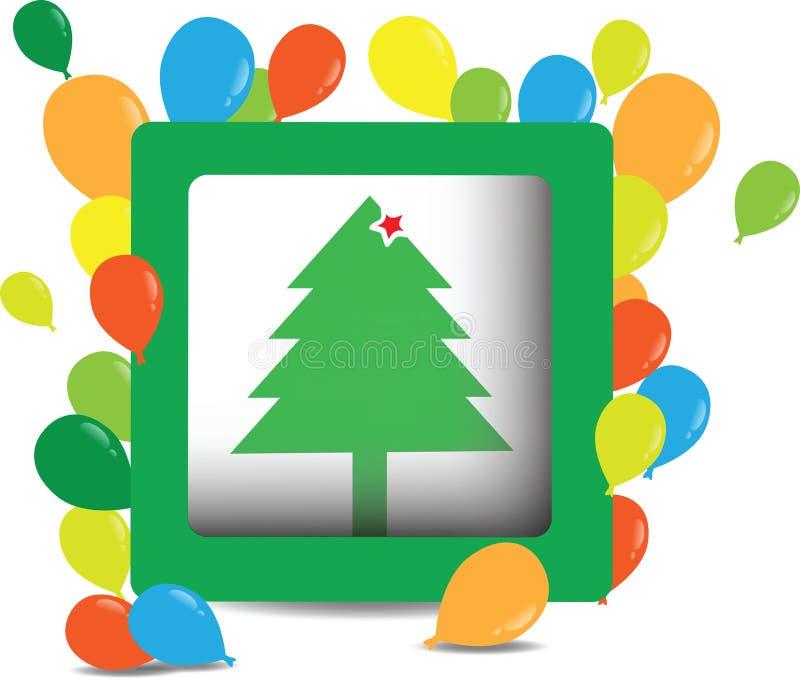 Weihnachtsbaum, vektorabbildung lizenzfreie abbildung