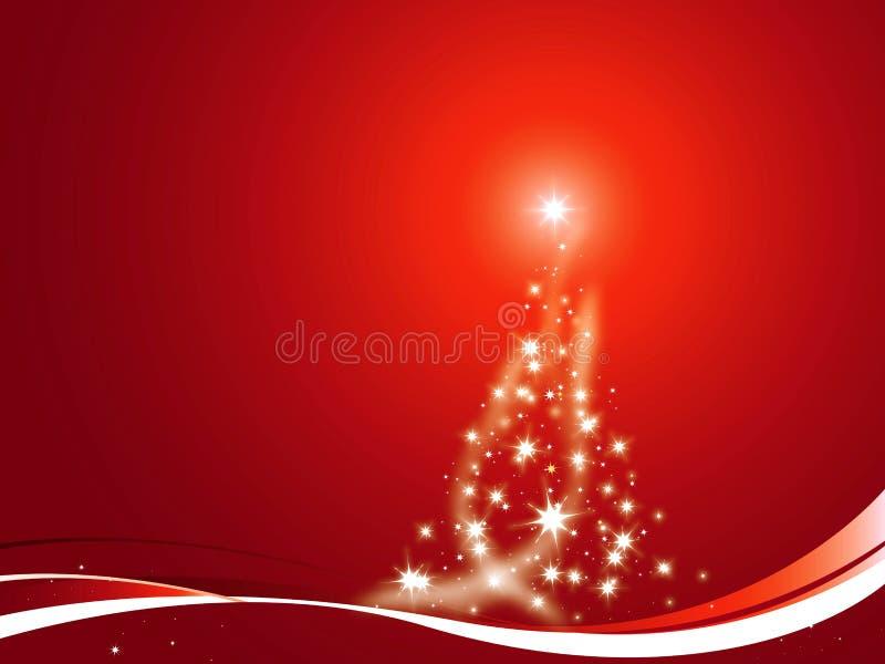 Weihnachtsbaum verziert stock abbildung