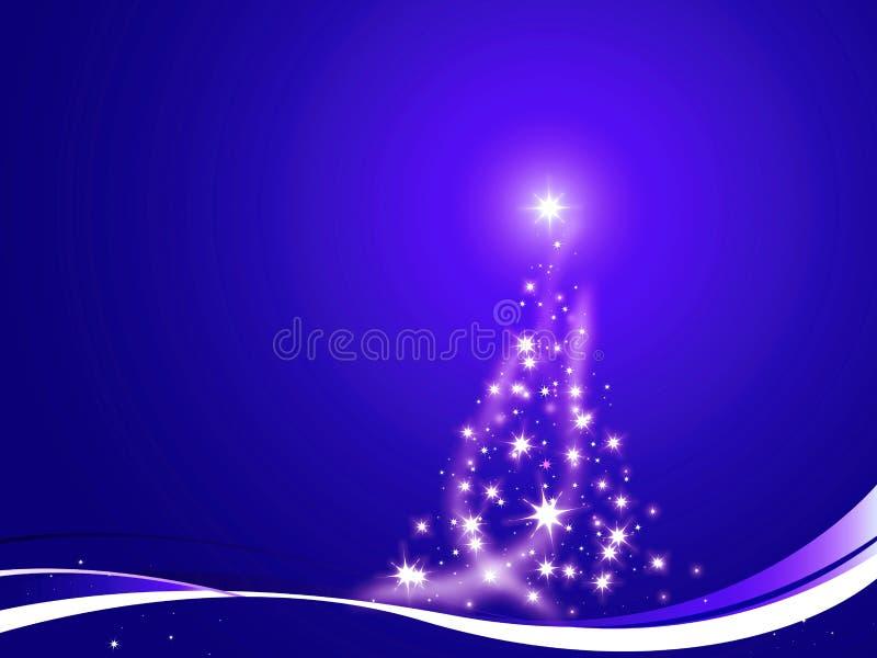 Weihnachtsbaum verzierte Blau lizenzfreie abbildung