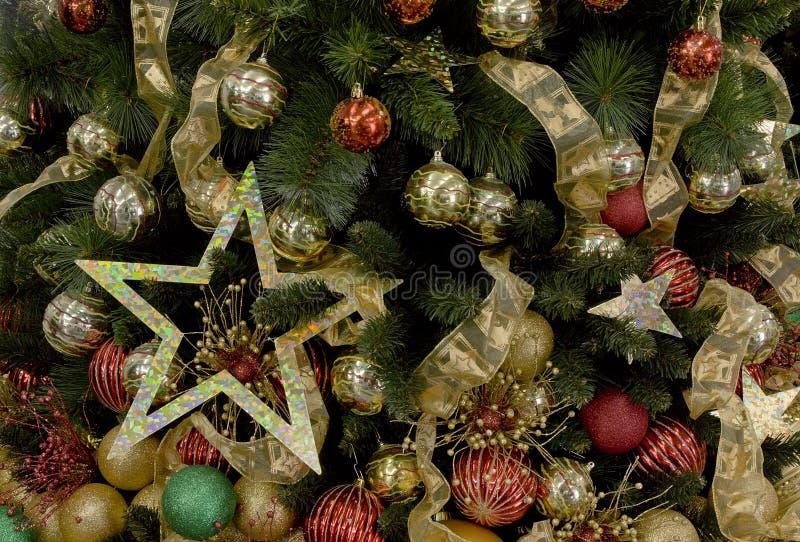 Weihnachtsbaum verzierte Hintergründe lizenzfreie stockfotografie