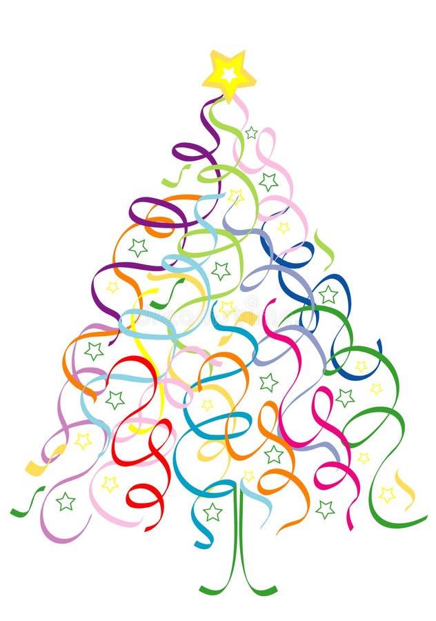 Weihnachtsbaum von Confetti stock abbildung