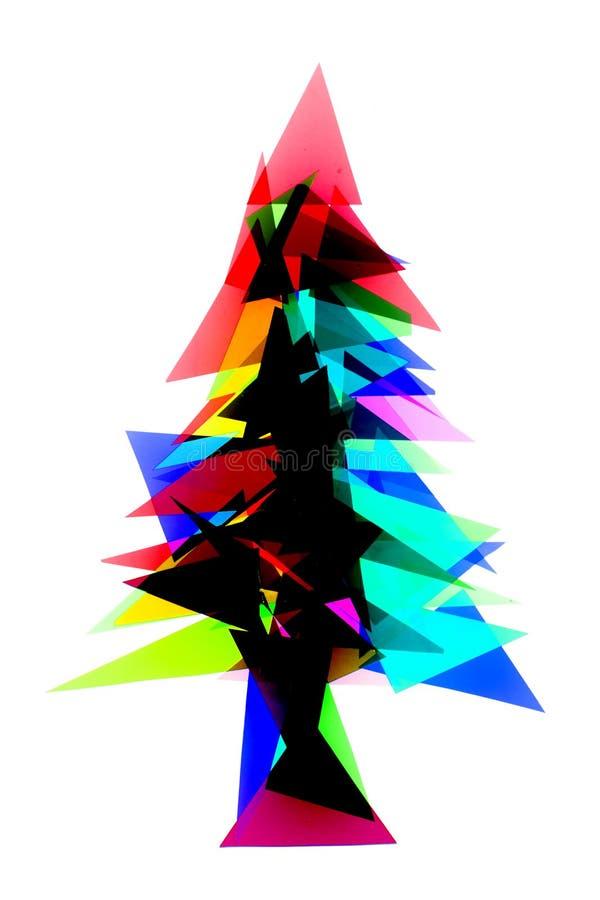 Weihnachtsbaum von den Farbplastikdreiecken lizenzfreie abbildung