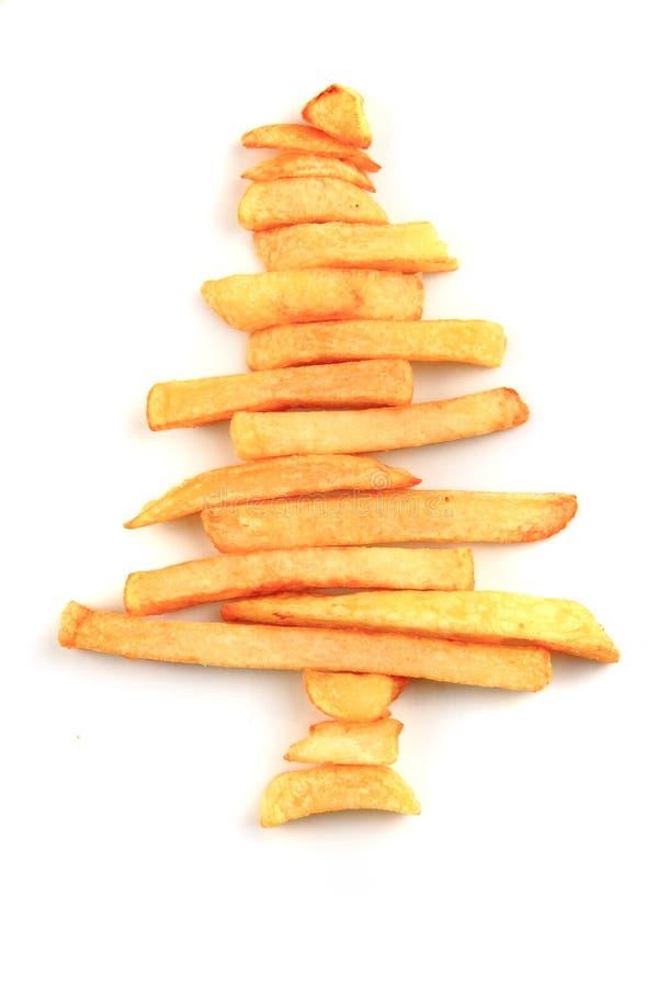 Weihnachtsbaum von den Kartoffelchips lizenzfreie stockfotos
