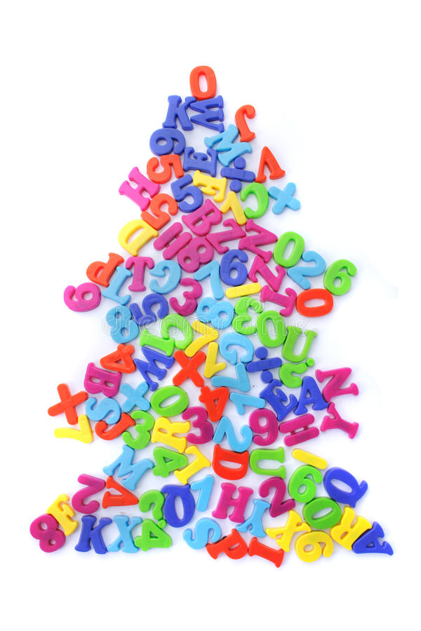 Weihnachtsbaum von den Wörtern stockbilder
