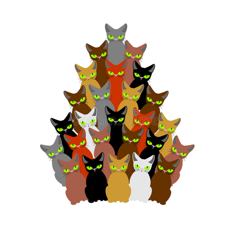 weihnachtsbaum von katzen fichte des haustieres tannenbaum. Black Bedroom Furniture Sets. Home Design Ideas