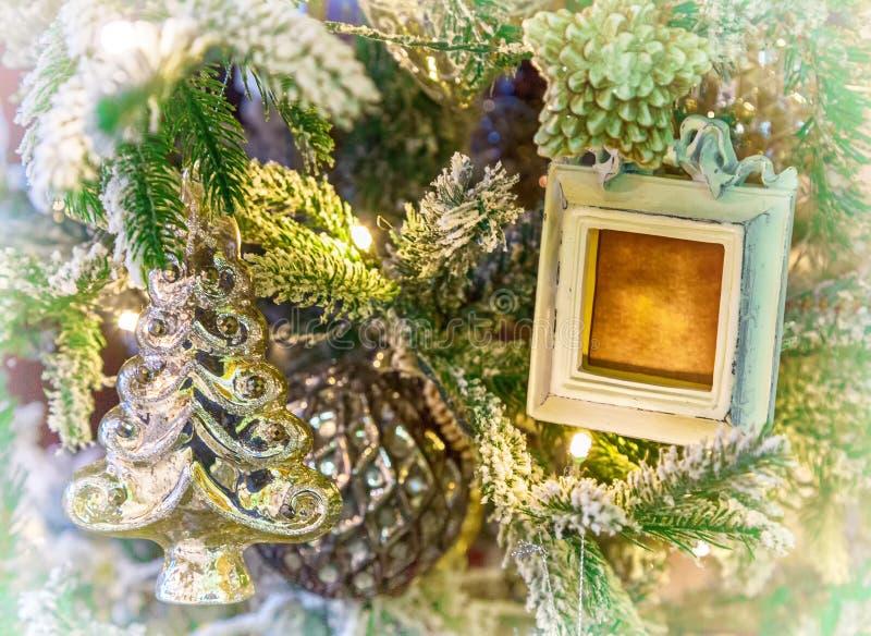 Weihnachtsbaum Weihnachtsdekorationen stockfotos