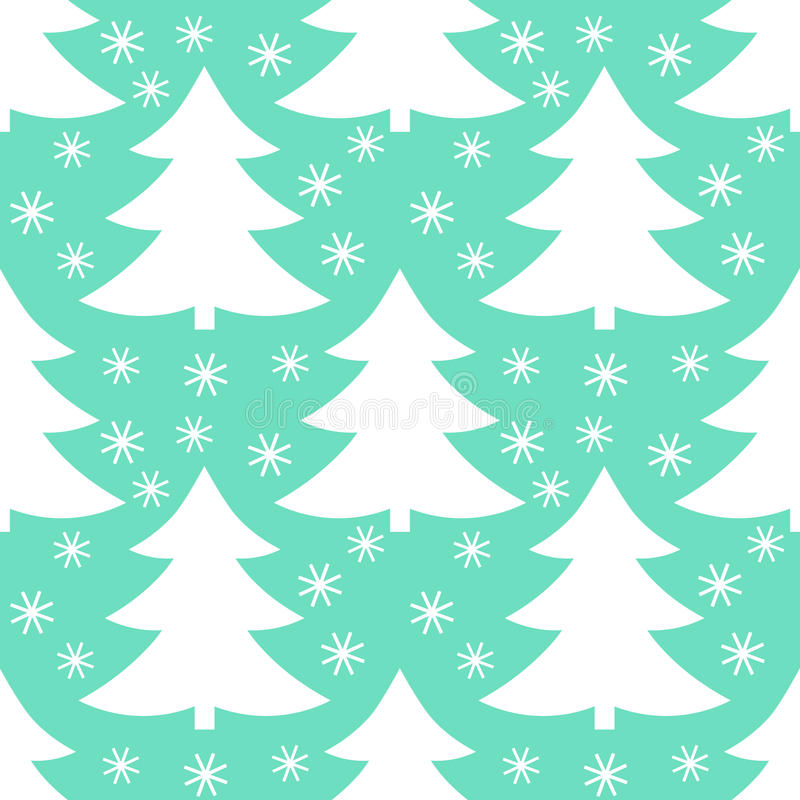 Weihnachtsbaum-Wintermuster vektor abbildung