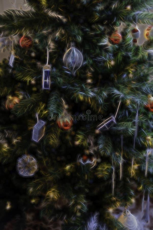 Weihnachtsbaum-Zusammenfassungs-Hintergrund-Illustration stockfoto
