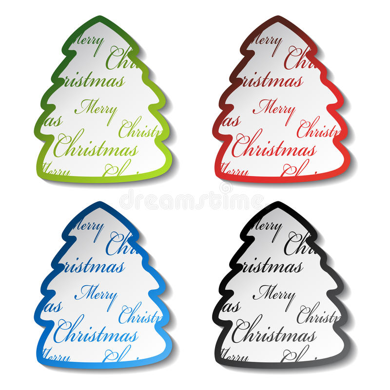 Weihnachtsbaumaufkleber vektor abbildung