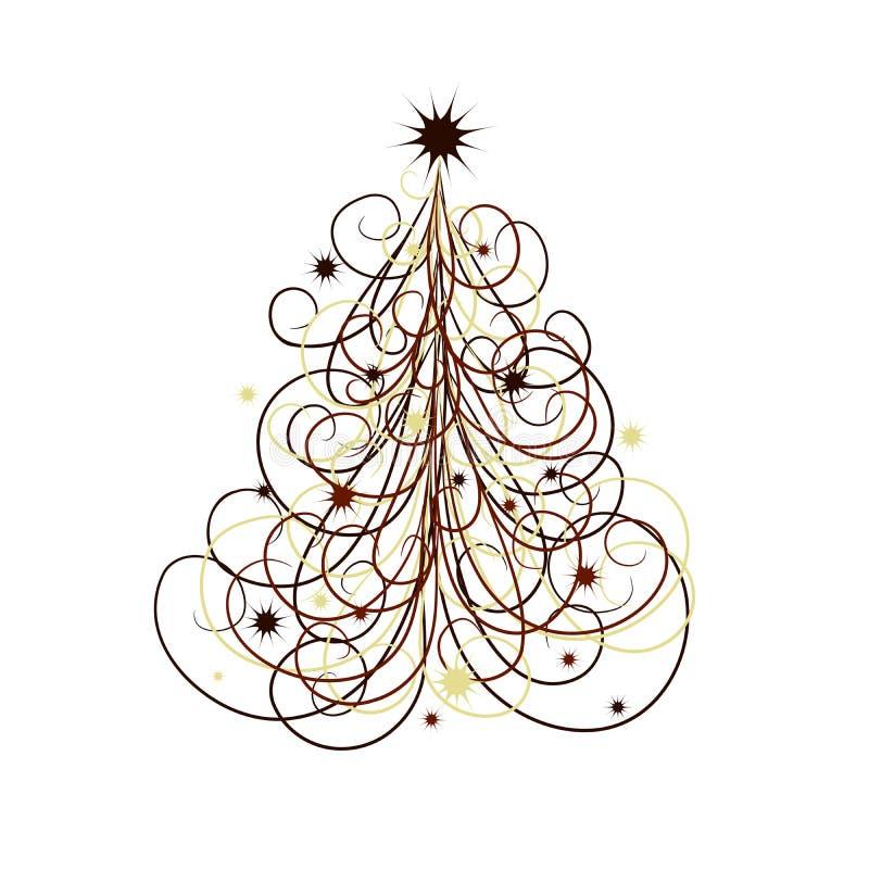 Weihnachtsbaumauszug, Vektor vektor abbildung