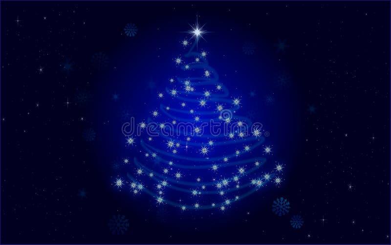 Weihnachtsbaumblau lizenzfreie abbildung
