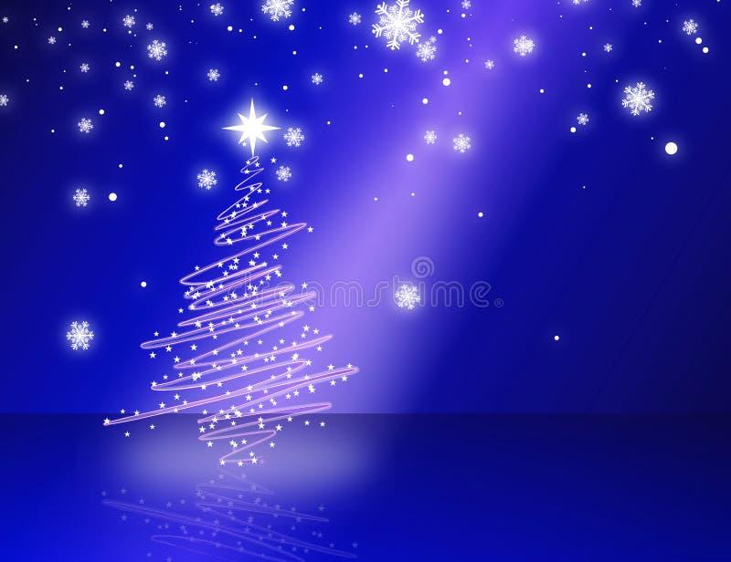Weihnachtsbaumblau vektor abbildung