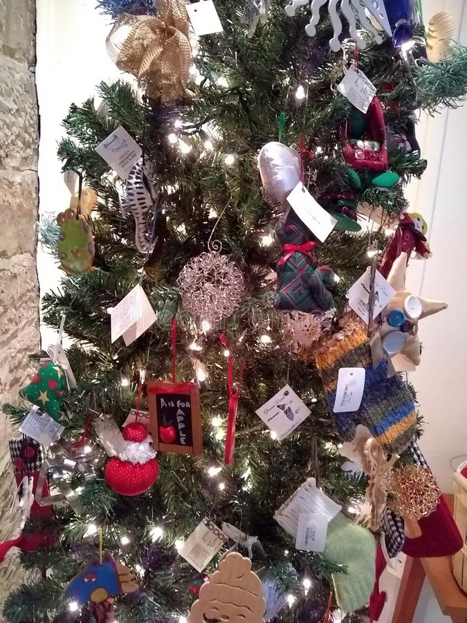 Weihnachtsbaumdekor stockfotografie