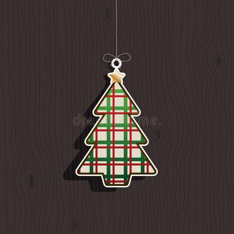 Weihnachtsbaumdekoration vektor abbildung