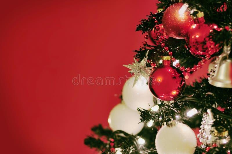 Weihnachtsbaumdekorationen stockfoto
