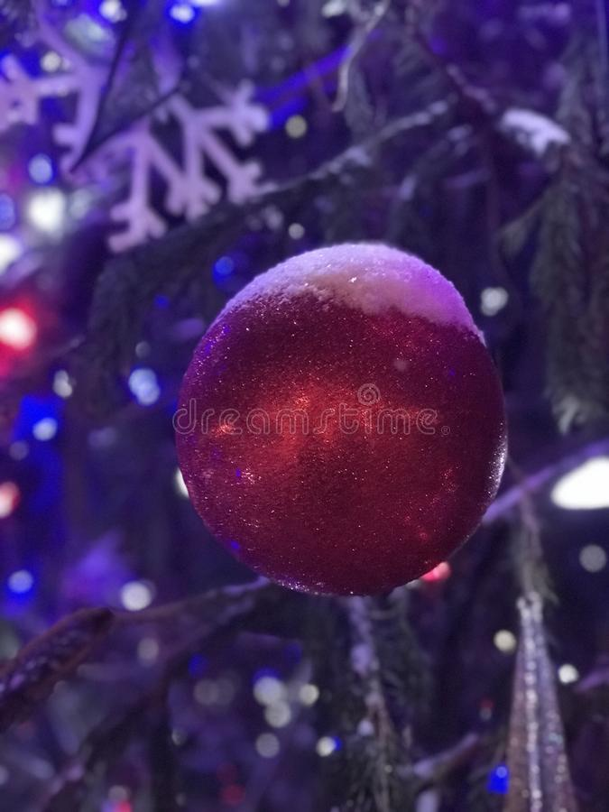 Weihnachtsbaumdekorationen Bryant Parks NYC stockfoto