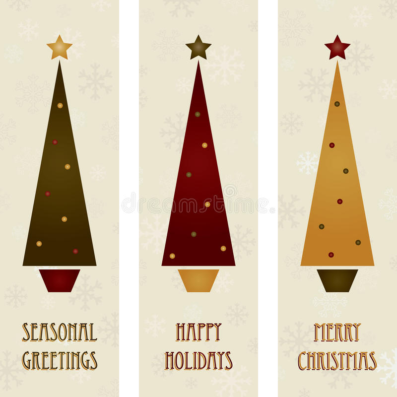 Weihnachtsbaumfahnen lizenzfreie abbildung