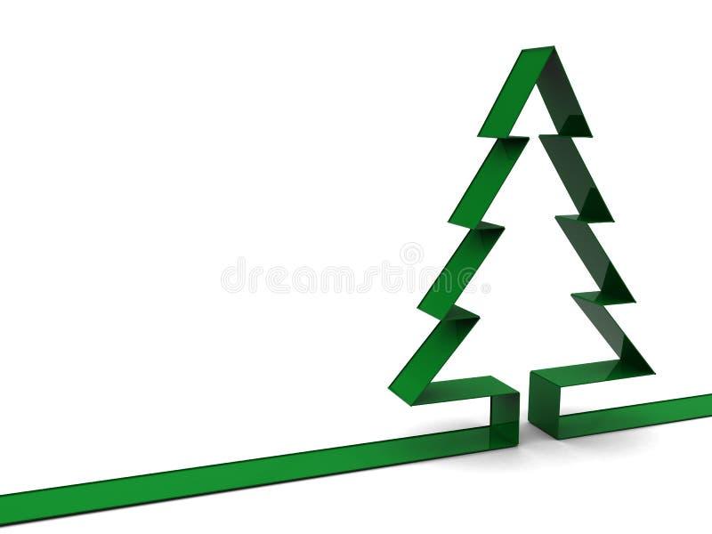 Weihnachtsbaumhintergrund stock abbildung