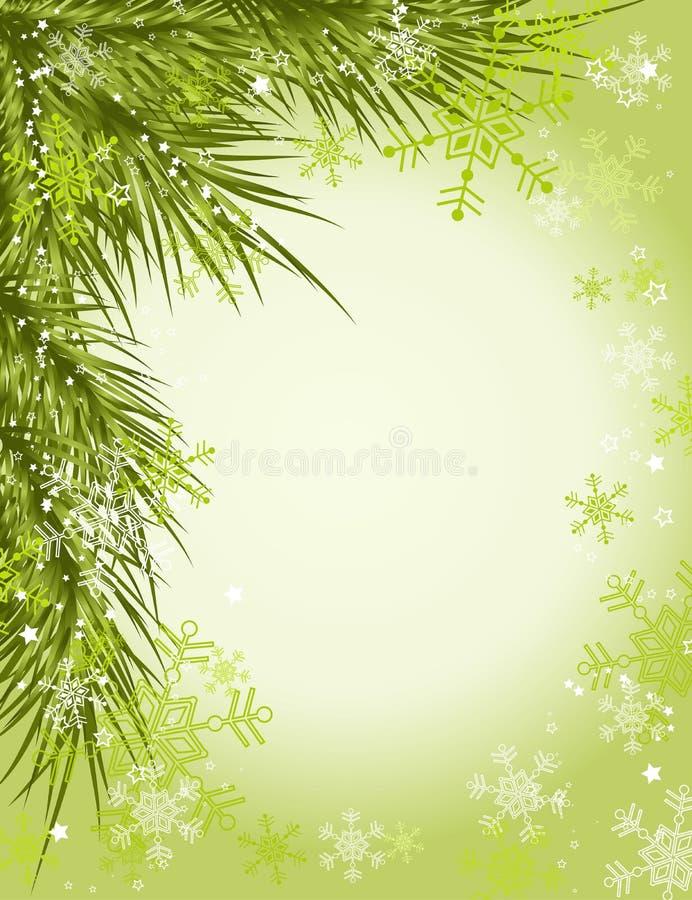 Weihnachtsbaumhintergrund lizenzfreie abbildung