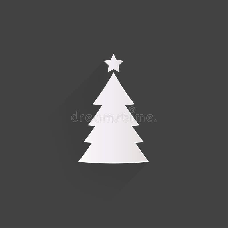 Weihnachtsbaumikone vektor abbildung