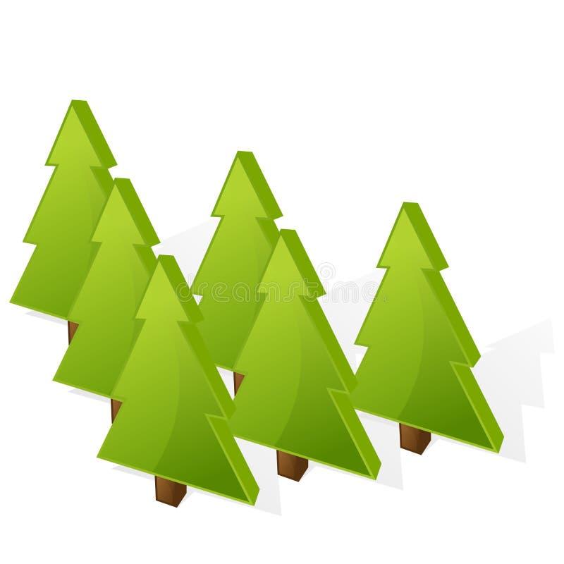 Weihnachtsbaumikone stock abbildung