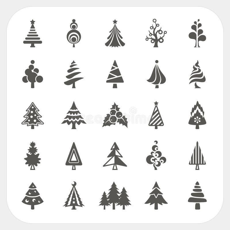 Weihnachtsbaumikonen eingestellt vektor abbildung