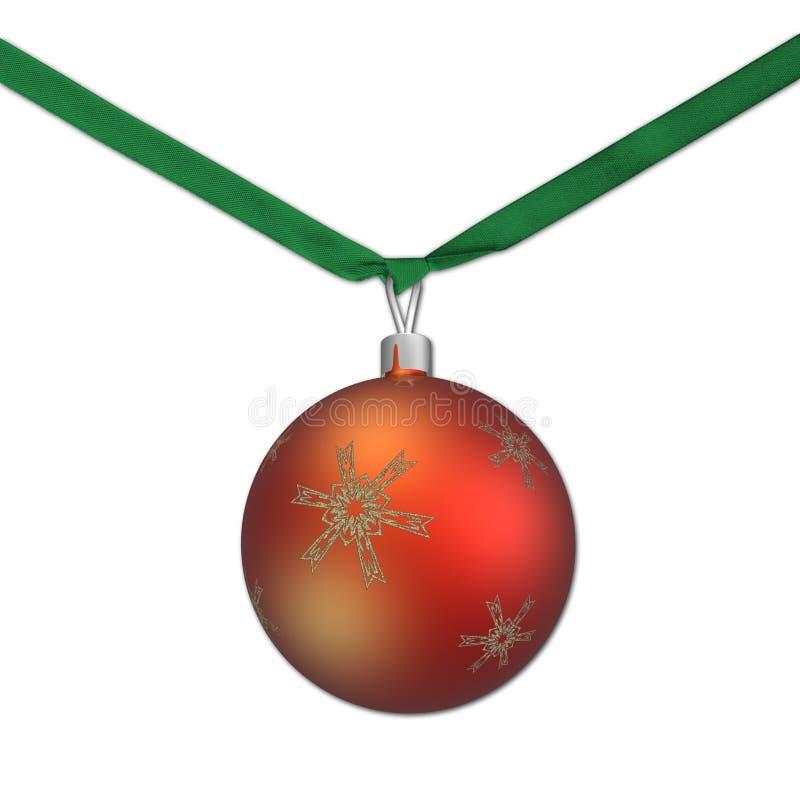Weihnachtsbaumkugel lizenzfreie abbildung