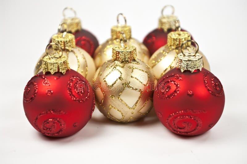 Weihnachtsbaumkugeln stockfotos