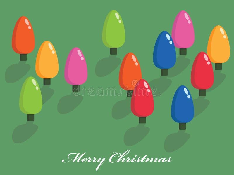 Weihnachtsbaumleuchten vektor abbildung