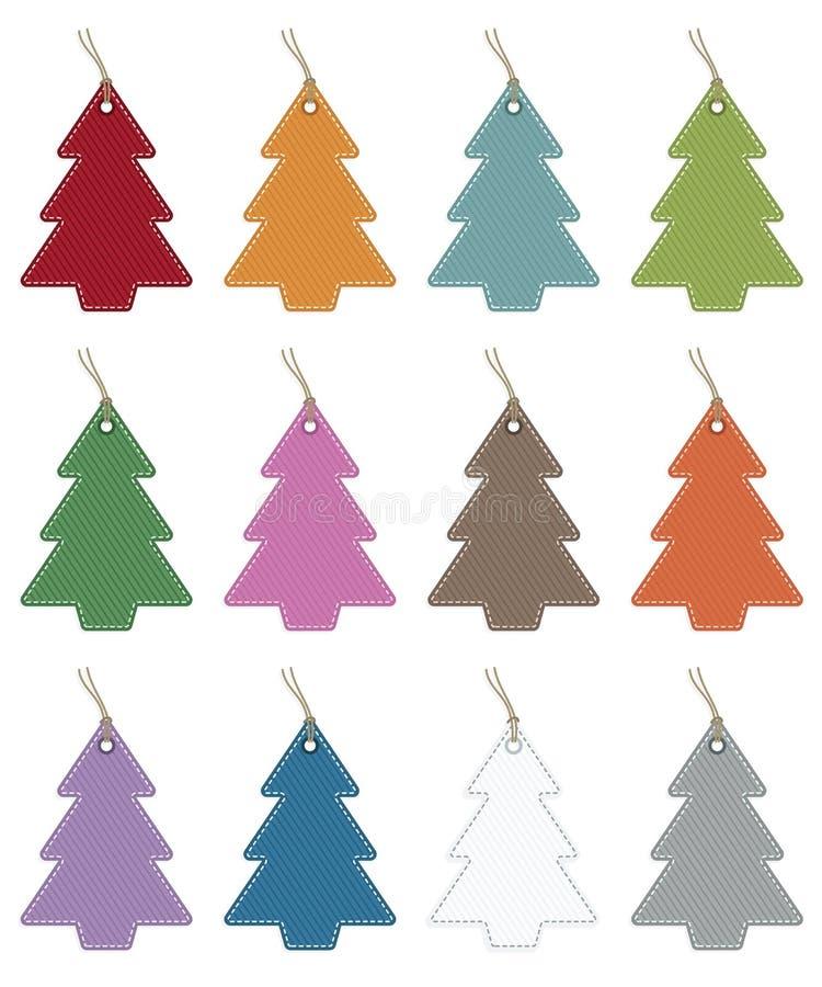 Weihnachtsbaummarken stock abbildung