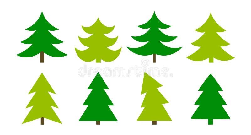 Weihnachtsbaumsammlung lizenzfreie abbildung